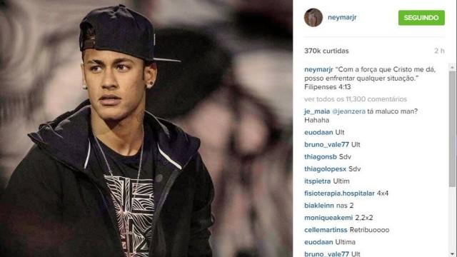 Neymar publicou mensagem nas suas redes sociais (Crédito: Reprodução)