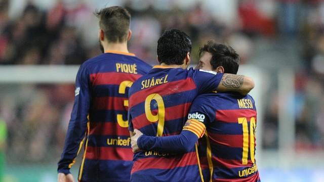 Trio de craques do Barcelona em tarde inspirada