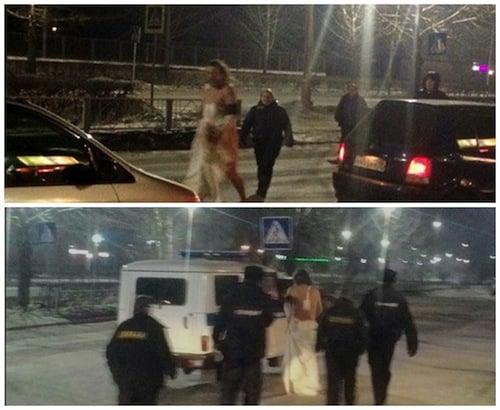 Paciente foi levado para o hospital por policiais (Crédito: Reprodução)