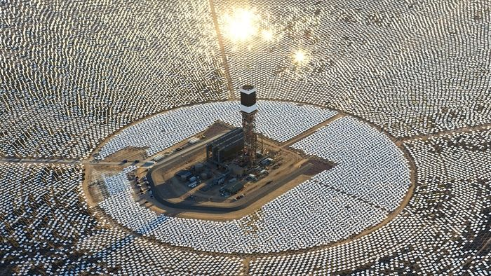 Usina Ivanpah Solar Electrict Generating System  (Crédito: Reprodução)