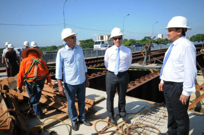 Governador Visita obras da ponte Wall Ferraz (Crédito: Francisco Leal)