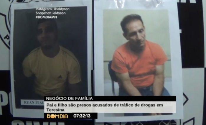 Acusados são pai e filho (Crédito: Reprodução/TV Meio Norte)