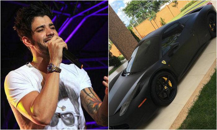 Gustavo Lima posta foto de Ferrari e seguidora o critica (Crédito: Reprodução)