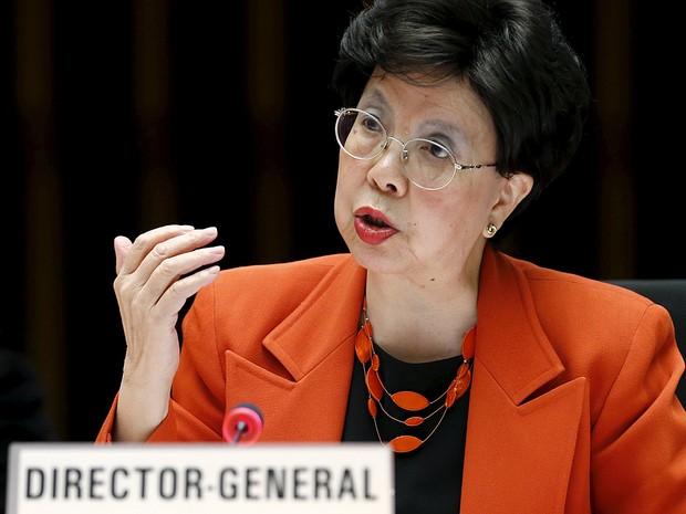 A diretora -geral da OMS, em Genebra  (Crédito: Reprodução)