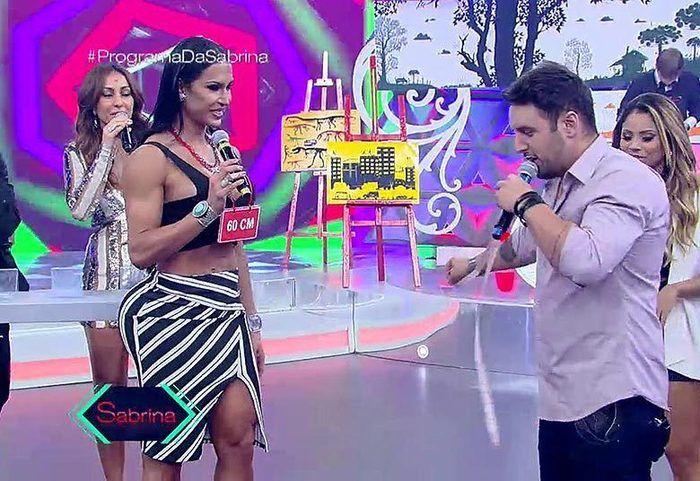 Bello e Gracyanne Barbosa passaram por uma saia justa  (Crédito: Reprodução)