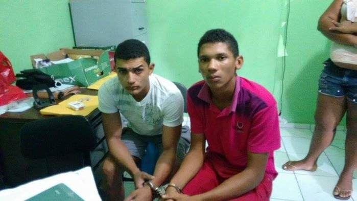 Dois dos três jovens capturados em Regeneração