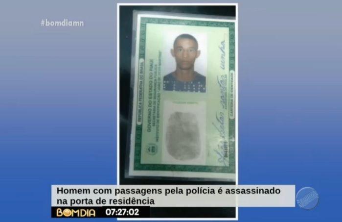 Vítima já tinha passagens pela polícia (Crédito: Reprodução/TV Meio Norte)