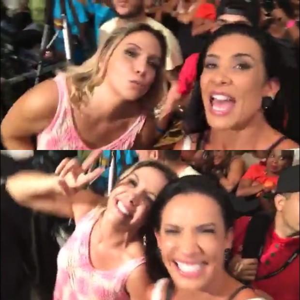 Carla e Scheila juntas (Crédito: Snapchat)