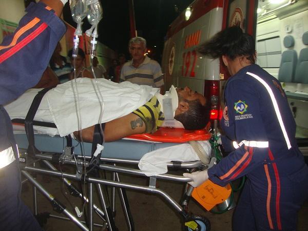 Tadeu Rocha de Araújo ficou bastante ferido