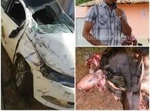 Professor sai ileso de grave acidente, após carro capotar