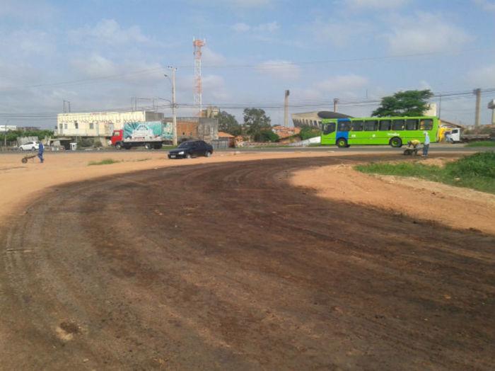 Prolongamento da via na zona sul de Teresina  (Crédito: Ascom DER)