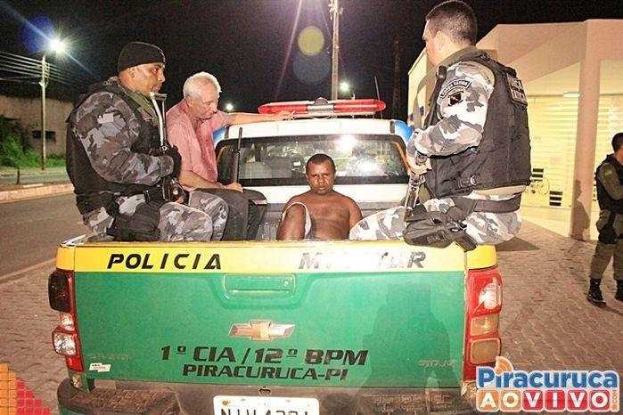 Acusado ainda trocou tiros com a polícia (Crédito: Reprodução)