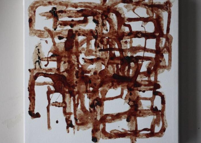 Samera Paz fez pintura com sangue menstrual