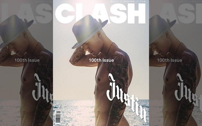 Foto de Bieber na capa da Clash