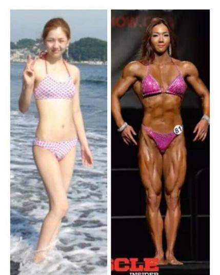 Antes e depois de Yeon Woo Jhi (Crédito: Reprodução)