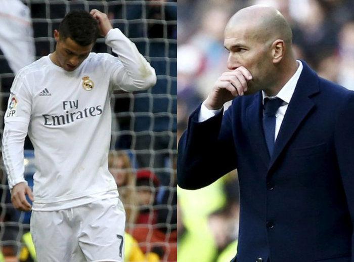 Cristiano Ronaldo e o técnico Zinedine Zidane