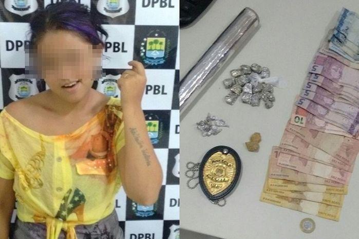 Polícia apreende jovem acusada de tráfico de drogas  (Crédito: Reprodução)
