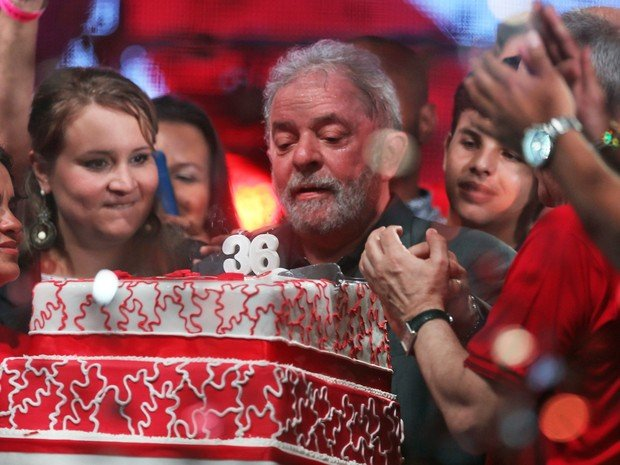 Lula no aniversário do PT (Crédito: Reprodução)