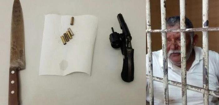 Aristides Lopes da Silva estava em pode de uma arma, faca e cartuchos