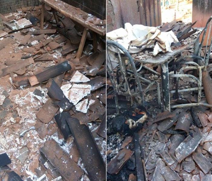Casa ficou praticamente destruída
