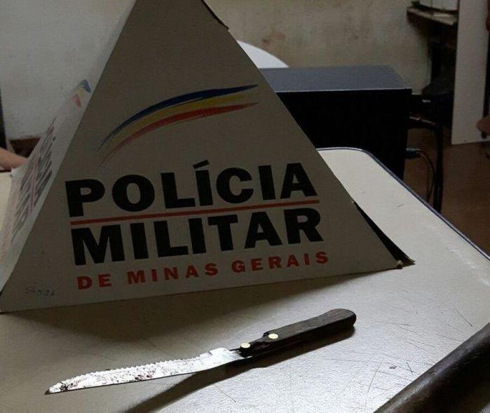 Faca usada no crime que vitimou o piauiense