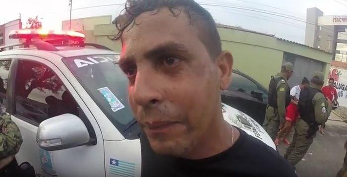 Acusado ficou revoltado com prisão (Crédito: Reprodução/TV Meio Norte)
