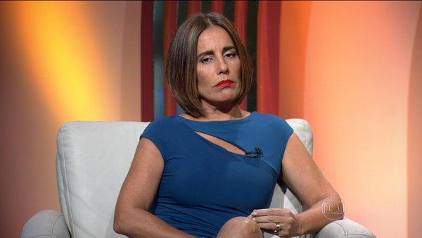 Gloria Pires durante participação na trânsmissão  do Oscar 2016