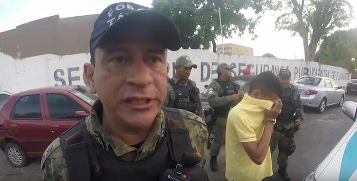 Policial diz que vítimas foram reconhecidas (Crédito: Reprodução/TV Meio Norte)