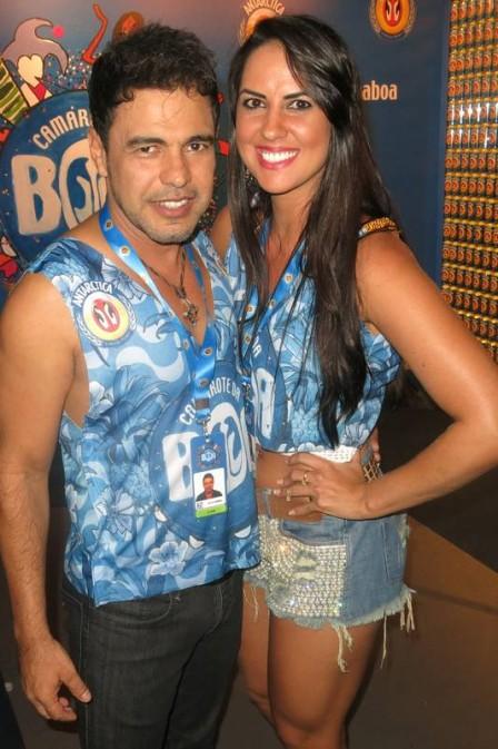 Zezé e a namorada Graciele Lacerda (Crédito: Reprodução)