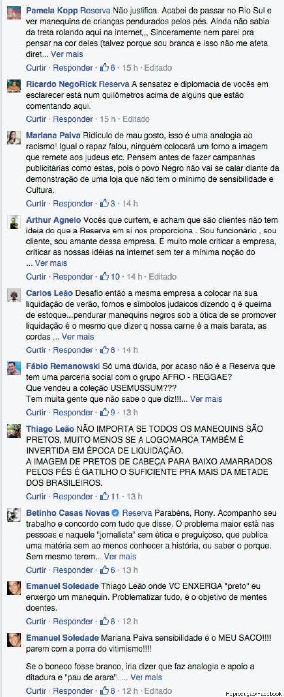 Comentários facebook (Crédito: Reprodução)
