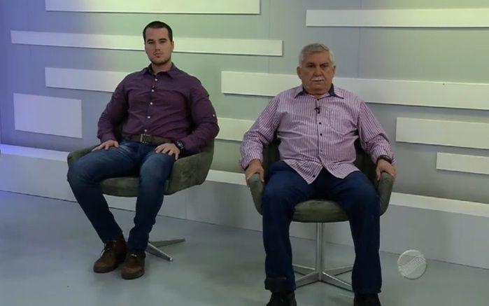 Delegado Matheus Zanatta e Menandro Pedro (Crédito: Reprodução/TV Meio Norte)
