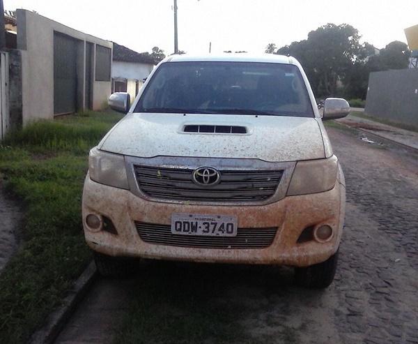 Veículo abandonado no município que pode ter sido roubado pelo homem capturado
