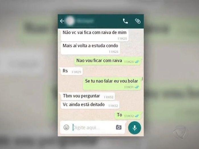 Mensagens trocadas pelo pedófilo e a mãe do garoto (Crédito: Reprodução)