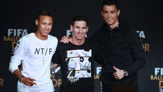 Neymar, messi e Cristiano Ronaldo