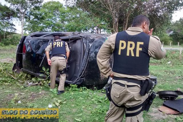 Capotamento BR 343 (Crédito: Divulgação)