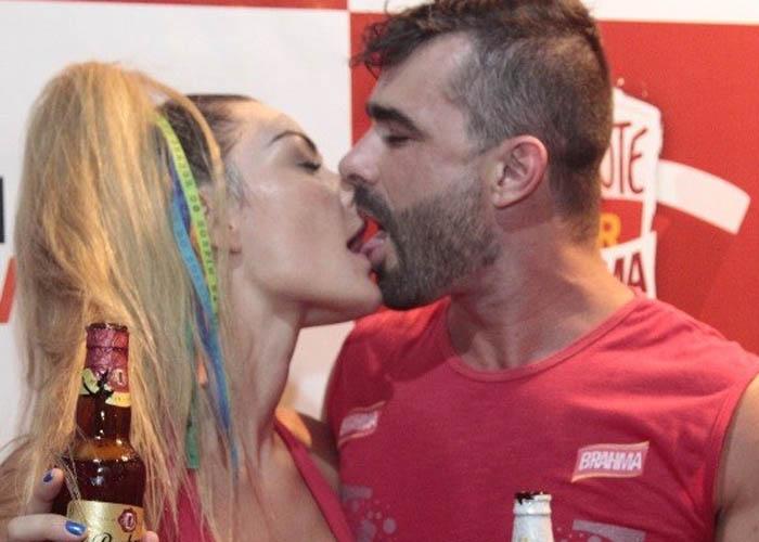 Laura Keller e o namorado Jorge Souza