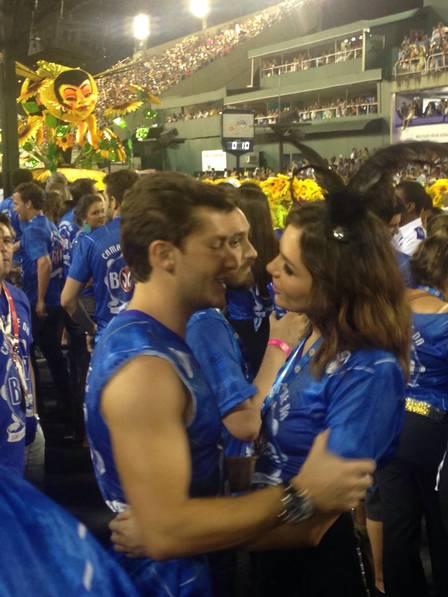 Monica Iozzi e klebber  Toledo (Crédito: Extra)