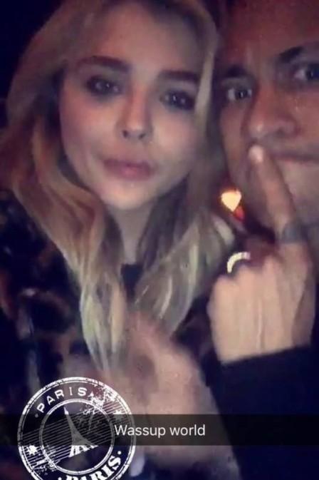 Neymar e Chloe Grace Moretz