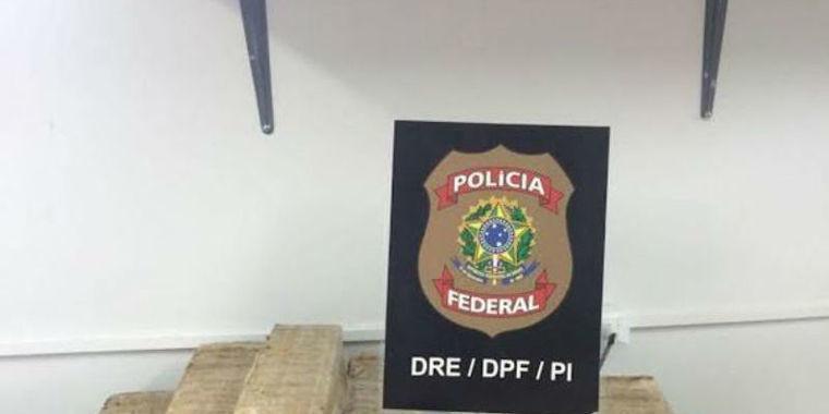 PF prende homem que transportava 50Kg de maconha em ônibus no PI