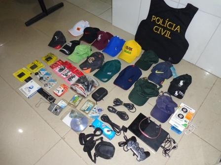 Ojetos recuperados pela Polícia Civil de São João do Piauí