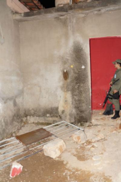 Delegacia foi quebrada pelo detento (Crédito: Portalsanjoanense)