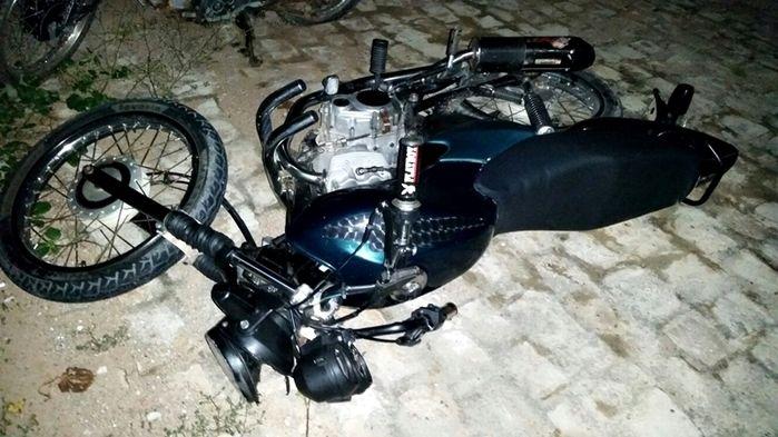 Acidente com motocicleta