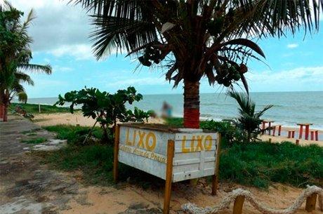 Praia que o acusado foi preso (Crédito: Reprodução)