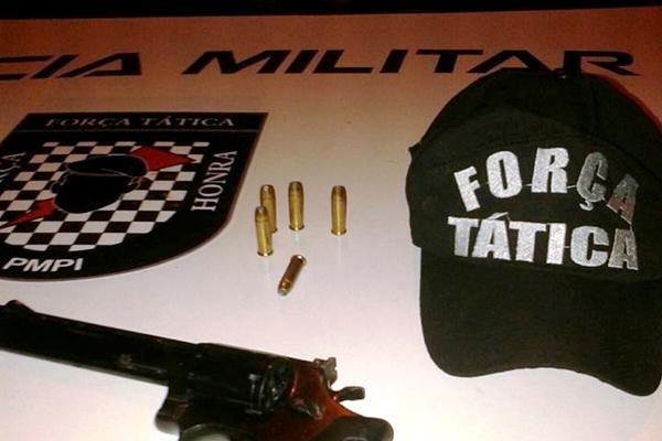 Arma apreendida com Sanatiel Willian de Sousa Castro