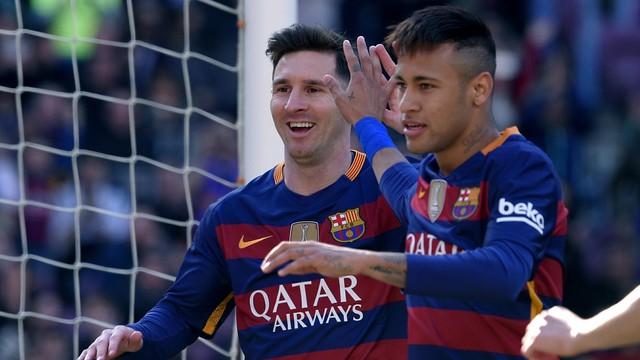 Messi e Neymar  (Crédito: AP)