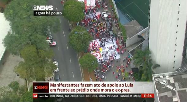 Protesto a favor de Lula em São Paulo