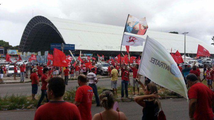 Manifestação a favor de Dilma e Lula em Fortaleza