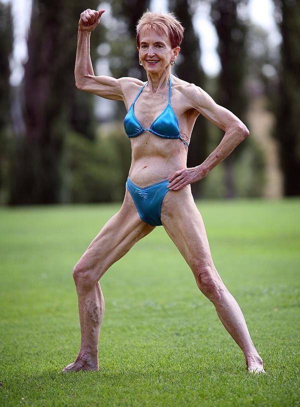 Fisiculturista de 73 anos quer mudar percepção sobre a velhice (Crédito: Reprodução)