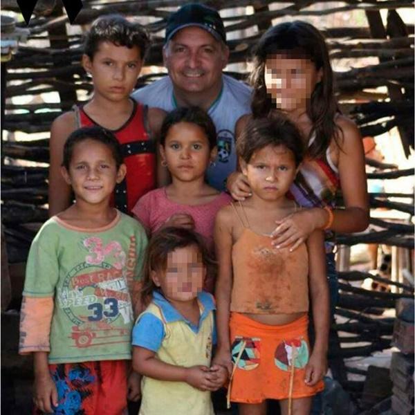 Crianças vítimas do acidente