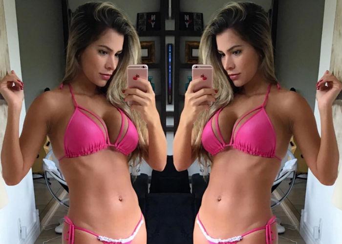 Ex-BBB Adriana exibe suas curvas (Crédito: Reprodução/ Instagram)